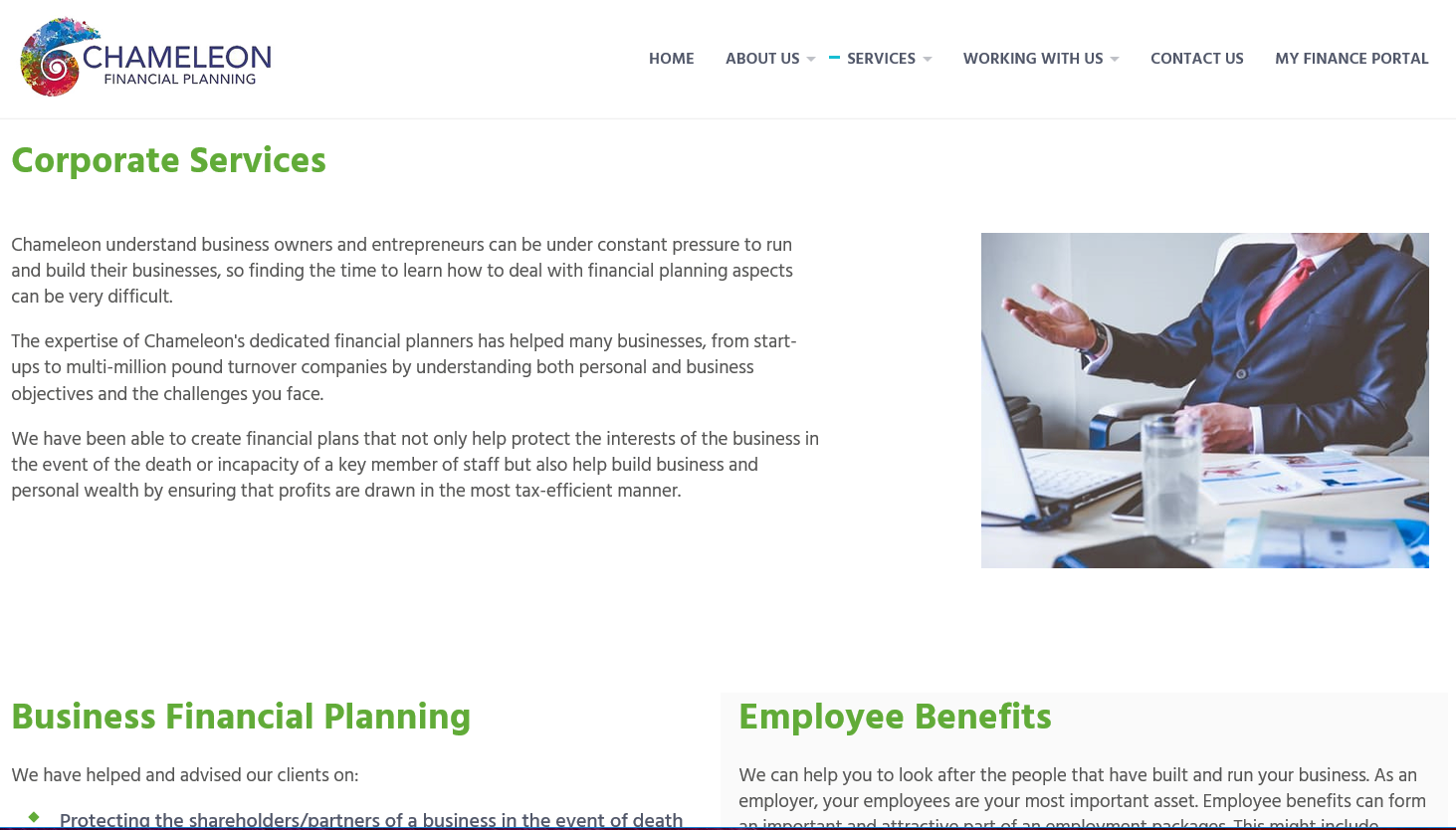 Chameleon Financial Planning - Corporate