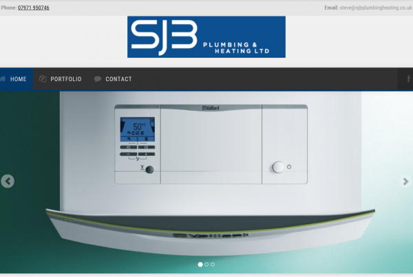 SJB Plumbing and heating website