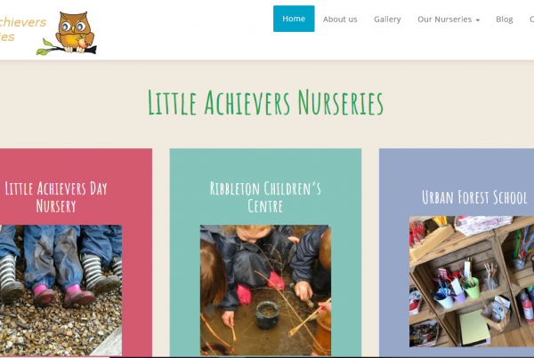 Rosy Apple Childcare website