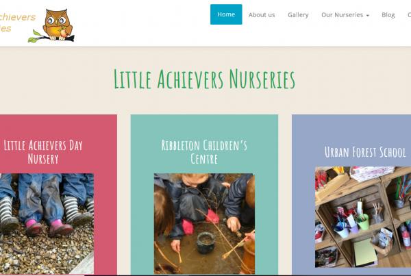Rosy Apple Childcare website